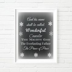 Printable Art Typography Poster Chalkboard Christmas Print Bible Quote Instant Download Digital Download Merry Christmas Décor Wall Art Gift by RelivableMoments on Etsy