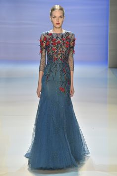 Monet's Midnight Stroll by Georges Hobeika | Couture Fall-Winter 2014-15 | Look 28  -Georges Hobeika, inspired by the timeless work of Claude Monet, paints a woman of grace from the fantasy of dreams.