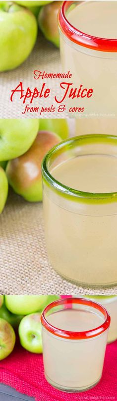 This Easy No-Waste {Guilt Free} Fresh Apple Juice uses the peels and cores from apples to make a great tasting, natural Apple Juice. Juice Smoothie, Fruit Smoothies, Smoothie Recipes, Making Smoothies, Juice Recipes, Simple Smoothies, Protein Smoothies, Breakfast Smoothies, Healthy Juices