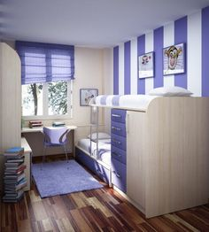 kleines jugendzimmer hochbett kleiderschrank unten
