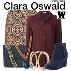 Inspired by Jenna Louise Coleman as Clara Oswald on Doctor Who.