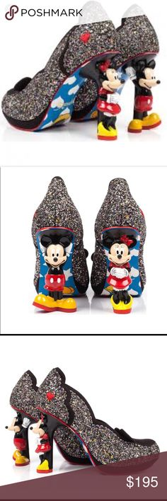 NIB ❤️ Irregular Choice Mickey Minnie Mouse  Irregular Choice DISNEY Mickey Minnie Mouse Heels size 40 (9) New in Box All offers are welcome  Irregular Choice Shoes Heels