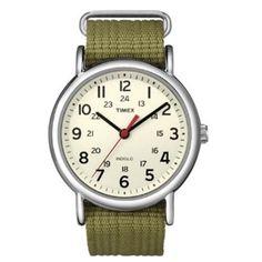 ba3578ee3237 Timex Weekender Slip-Thru Watch - Olive Green. Cool WatchesJewelry  WatchesQuartz ...