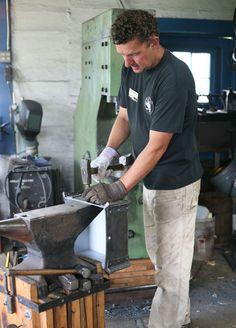 *** Like the anvil stand *** Paul Garrett, the Folk School's resident blacksmith