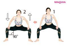 MAQUIA6月号の『話題のエクササイズで1ヵ月痩せ』特集から、アメリカを中心にブームの兆しが見える「30日スクワットチャレンジ」を紹介します。ライターYが挑戦下半身デブに本腰上げます!「30日スクワットチャレンジ」一番効果があったの... Fitness Diet, Yoga Fitness, Health Fitness, Healthy Beauty, Health And Beauty, Health Diet, Female Bodies, Gym Workouts, Body Care