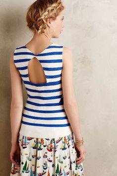 Nitza Tank - anthropologie.com That sailboat skirt is cute!