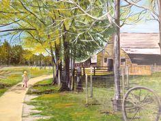 Jimmy Carters boyhood farm in Plains,GA. Done in acrylic on stretched canvas16x20 inch by Yasmin hasnain