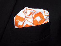 Items similar to White Orange Funny Pocket Square for Man Boy Kid - Premium Cotton - Gift Kangaroos Handkerchief on Etsy Kangaroos, Pocket Square, Trending Outfits, Unique Jewelry, Handmade Gifts, Funny, Men, Etsy, Clothes