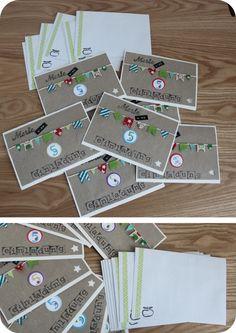 Einladungskarten zur Kindergeburtstagsfeier