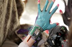 """Imogen Heap's new Mi.Mu gloves . """"These beautiful gloves help me gesturally interact with my computer,"""" says Heap, explaining how the wearable technology allows her to perform without having to interact with keyboards or control panels."""