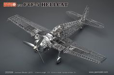 The Jasmine Hellcat F6F-5 model is a 1/48 scale kit. The latest model to come out from Jasmine, we find this to be their best kit yet. Priced perfectly for those wanting to get started building PE kit