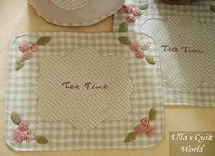 Ulla's Quilt World: Quilted tablemats, Tea time