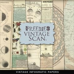 Far Far Hill: Freebies Kit of Pages from Vintage Book