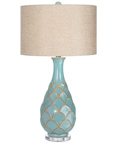 Pacific Coast Fan Turquoise Table Lamp - Lighting & Lamps - For The Home - Macy's