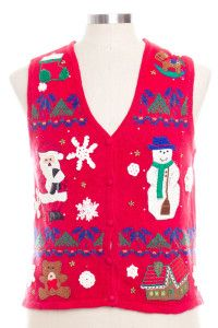 Red Ugly Christmas Vest 28340