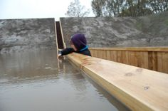 Moses Bridge / RO Architecten   Architects: RO Architecten  Location: Halsteren, The Netherlands  Client: Municipality of Bergen op Zoom  Material used: Accoya wood  Project Area: 50 sqm  Photographs: Courtesy of RO Architecten