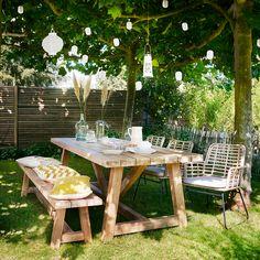 Porch Garden, Backyard Garden Design, Terrace Garden, Backyard Patio, Home And Garden, Outdoor Dining Set, Outdoor Living, Outdoor Decor, Happy New Home