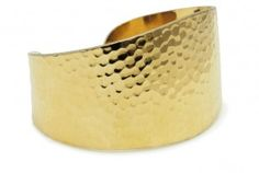 Hammered gold is an ancient technique that is adding a textural touch to modern jewelry this fall. Where to Find Hammered Hammered Gold, Modern Jewelry, Cuff Bracelets, Cuffs, Copper, Texture, My Favorite Things, Metal, Surface Finish