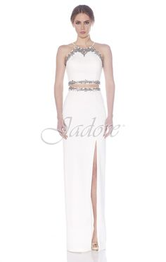 Jadore Style #J7037 featured in Ivory #Neoprene dress great for #ReceptionDress #DestinationBride #Bride #Bridesmaid #Prom #Evening #Cocktail view it on our website WWW.JADOREEVENING.CA Can be ordered in sizes 2-26 and in Black and Ivory!