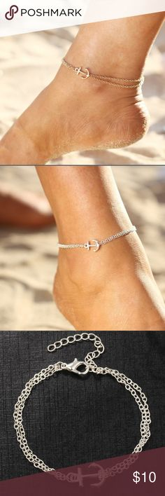 ⚓️coming soon⚓️Anchor bracelet Cute silver bracelet Accessories