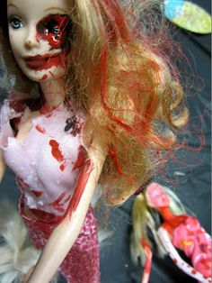 Zombify Your Life, an all ages zombie makeup and doll mutilation library program!