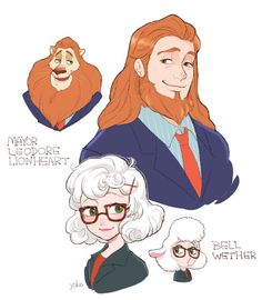 Other characters from Zootopia in Human form