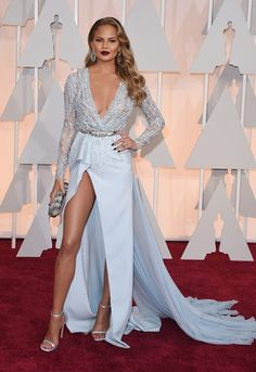 The 2015 Oscars red carpet dresses: Chrissy Teigen