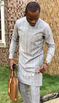 African Male Suits, African Attire For Men, African Clothing For Men, African Shirts, Nigerian Men Fashion, African Men Fashion, Mens Fashion, Wedding Suit Styles, Wedding Suits