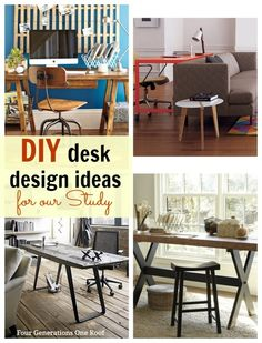 DIY desk ideas suitable for adults and children in our study