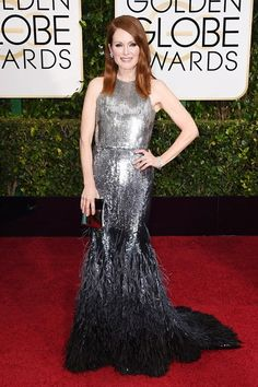 Golden Globes.  Julianne Moore wore a Givenchy by Riccardo Tisci gown.