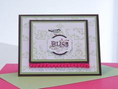 Stampin Up Utah Divas Color Challenge #22 ~ Bliss ~ by Brandy Cox