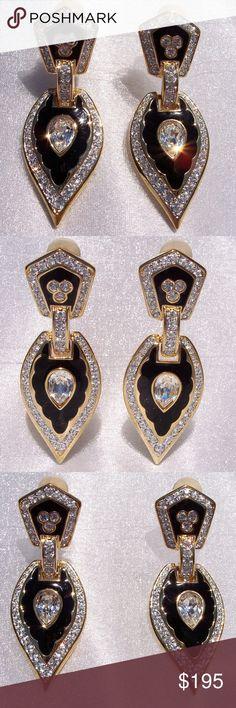 Daniel Swarovski Crystal Runway Drop Earrings