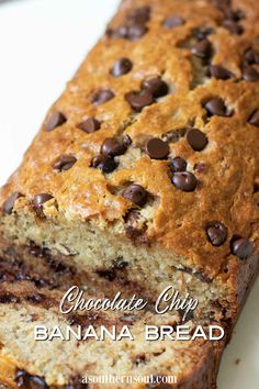 Chocolate Chip Banana Bread, Chocolate Chip Recipes, Banana Bread Recipes, Cake Recipes, Snack Recipes, Chocolate Chips, Easy To Make Appetizers, Easy Snacks, Yummy Snacks