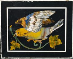 A magnificent Florentine pietra dura table top. Italian Marble, Mosaic Designs, Marquetry, Ancient Romans, Bird Art, Mosaic Art, Icon Design, Monet, Birds