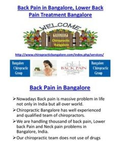 Back Pain in Bangalore, Lower Back Pain Treatment Bangalore