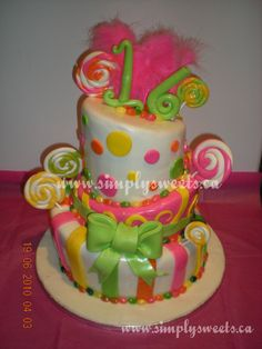 Sweet candy for your 16th birthday