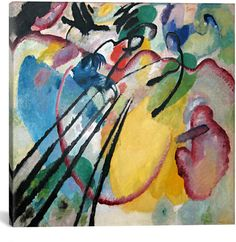 b0f4516f871 iCanvas Icanvasart Improvisation 26 (Rowing) By Wassily Kandinsky Kandinsky  Art, Canvas Artwork,