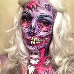 Cartoon zombie makeup