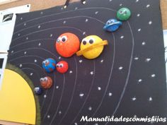 Manualidadesconmishijas: El Universo y nuestro sistema solar Solar System Projects For Kids, Space Projects, Space Crafts, Science Projects, School Projects, Moon Projects, Diy And Crafts, Crafts For Kids, Arts And Crafts