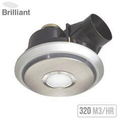 Brilliant Boreal 325 Exhaust Fan with Light - Silver