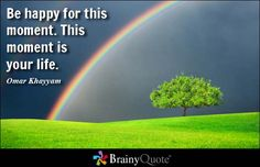 Be happy for this moment. This moment is your life. - Omar Khayyam at BrainyQuote Mobile