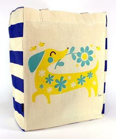 Look what I found on #zulily! Basil Dachshund Tote Bag by Common Rebels #zulilyfinds