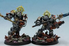 Warhammer 40K Space Marines set of 4 painted miniatures