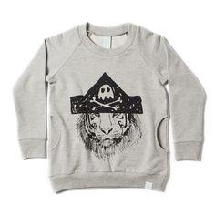 Minti Pirate Tiger Pocket Crew : Ragamuffins - Designer Kidswear For Babies to 8 Year Olds