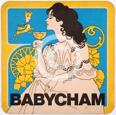 Babycham beermat, A sparkling perry drink first launched in Babycham reached the height of its popularity in the and Rights information: Cleared for Editorial Use Only. Retro Poster, Vintage Posters, Beer Mats, Wedding Invitation Inspiration, Ceramics Projects, French Country Style, Vintage Labels, Heritage Image, Cover Design