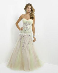 Long Sweetheart Mermaid Zipper Tulle Prom Dress