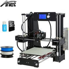 245.00$  Buy here - http://alitnz.worldwells.pw/go.php?t=32680997525 - Newest Anet A6 3d-printer Large printing Size Precision Reprap Prusa i3 3D Printer kit DIY with Filament 8GB Card 245.00$