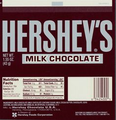 hershey's chocolate wrapper - Google Search Hershey Chocolate Bar, Chocolate Wrapper, Bar Wrappers, Printable Templates, Printables, Vitamins, Nutrition, Barbie, Milk