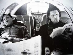 Till and Christoph on board Rammstein's private jet. (Circa. 2005)