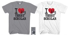 """We know how proud you are of your Terry Scholar, now it's time to tell everyone else! Order """"I love my Terry Scholar"""" shirts for the entire family! Pre-Order Today We are collecting order for this. Proud Of You, My Love, Mens Tops, Shirts, Shirt, Dress Shirts, Top, Tees, Sweaters"""
